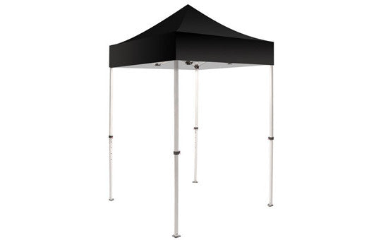Black Blank 5 x 5 Foot Canopy Tent and Frame Combo