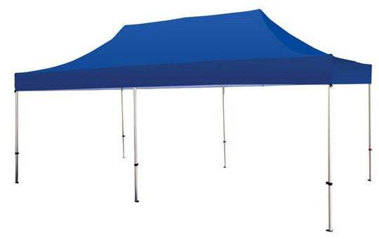 Blue Blank 20 x 10 Foot Canopy Tent and Frame Combo