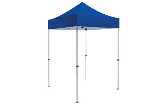 Blue Blank 5 x 5 Foot Canopy Tent and Frame Combo