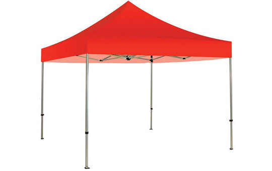 Red Blank 10 x 10 Foot Canopy Tent and Frame Combo