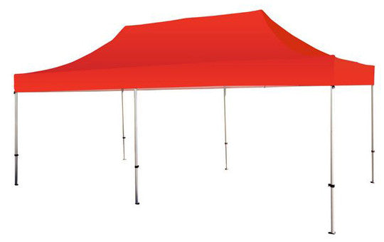 Red Blank 20 x 10 Foot Canopy Tent and Frame Combo