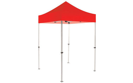 Red Blank 5 x 5 Foot Canopy Tent and Frame Combo
