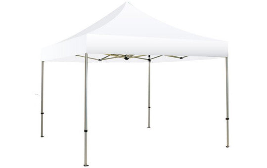 White Blank 10 x 10 Foot Canopy Tent and Frame Combo