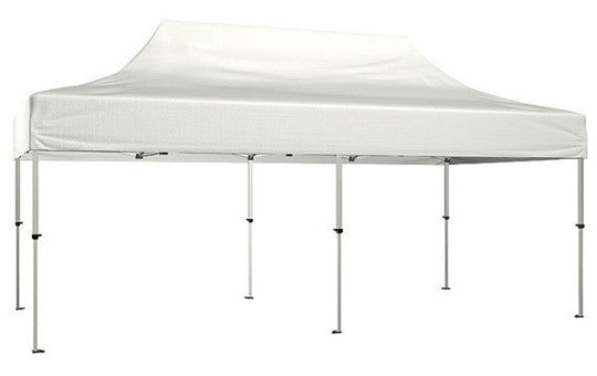 White Blank 20 x 10 Foot Canopy Tent and Frame Combo