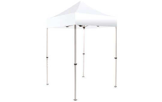 White Blank 5 x 5 Foot Canopy Tent and Frame Combo