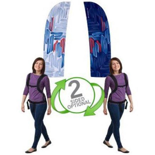 Backpack Walking Bowflag Straight Bottom Design Double Sided Graphics Only