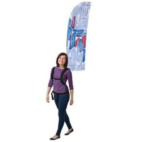 Backpack Walking Bowflag Straight Bottom Design Single Sided Graphics Only