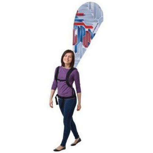 Backpack Walking Bowflag Teardrop Single Sided Graphic and Backpack Combo