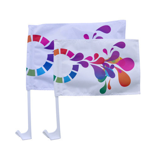 Car Flag Small Double Sided Graphics Package QTY: 25