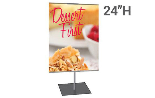 Stand /& Graphic Personalized Classic Banner Stand Single-Sided Graphic Package Silver with Travel Base Large 36 x 24