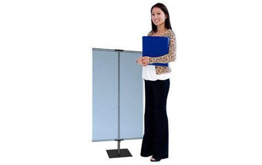 Classic Banner Stand Small 24 inch to 42 inch with black square base