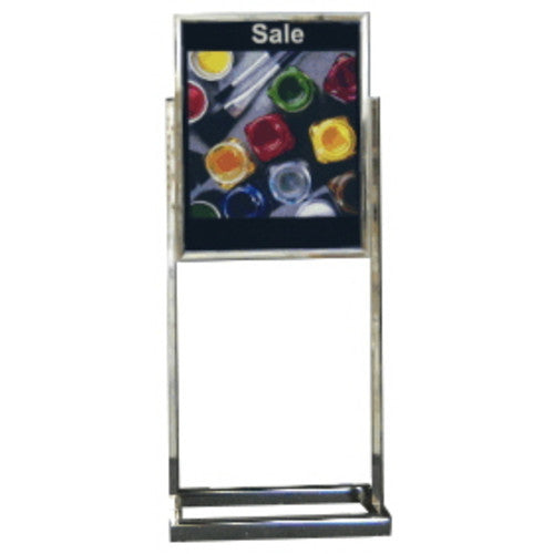 Classic Steel Poster Stand (Deluxe Open Base)
