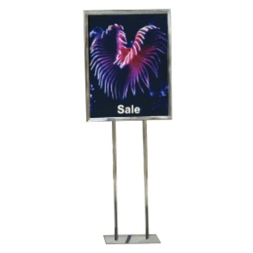 Classic Steel Poster Stand (Round Legs, Solid Square Base)
