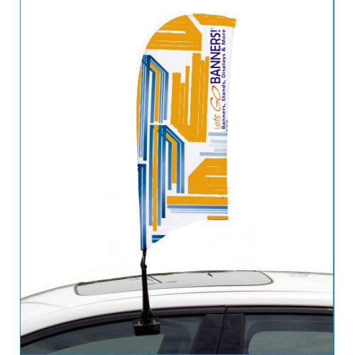 Car Bowflag® Concave Single Sided Graphics Package QTY: 50