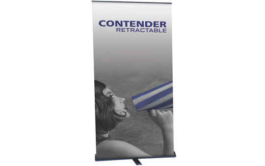 "Contender 47.5"" W by 77.5"" H Single Sided Retractable Banner Stand"