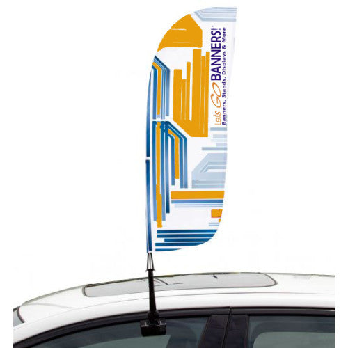 Car Bowflag® Convex Double Sided Graphics Only QTY: 50