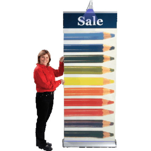 "Deluxe Roll Up Kit 36"" W by 63"" H to 86"" H Retractable Banner Stand"
