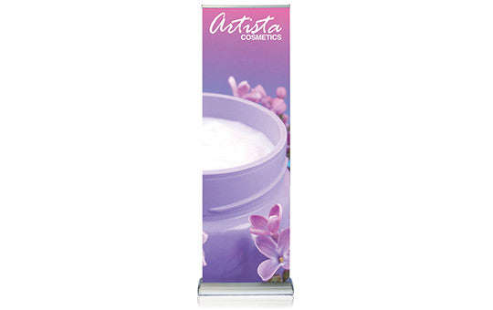 Double Step 24in Retractable Banner Stand Graphics Package