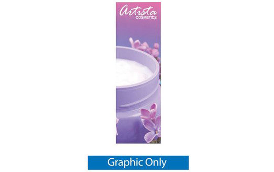 Double Step Graphic Only for 24 inch wide by 74 inch H double sided banner stand