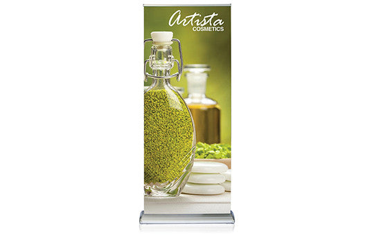 Double Step Retractable Banner Stand 36 inch wide double sided