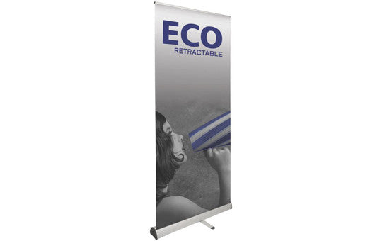 "ECO 36"" W by 79.375"" H Single Sided Retractable Banner Stand"