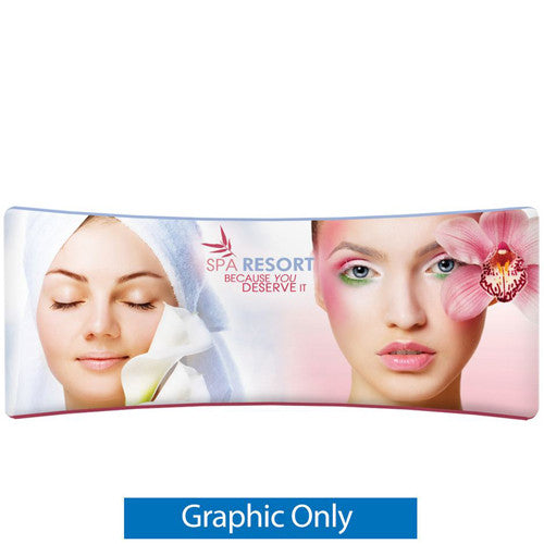 EZ Tube Display 20 Foot Curved Double Sided Graphics Only