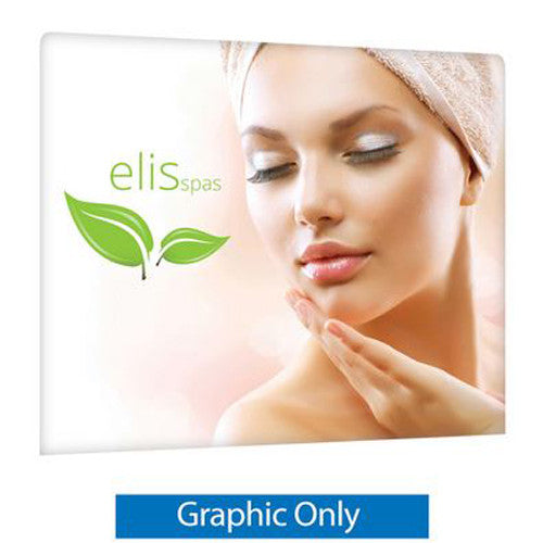 EZ Tube 8 Foot Straight Trade Show Display Single Sided Graphic Only