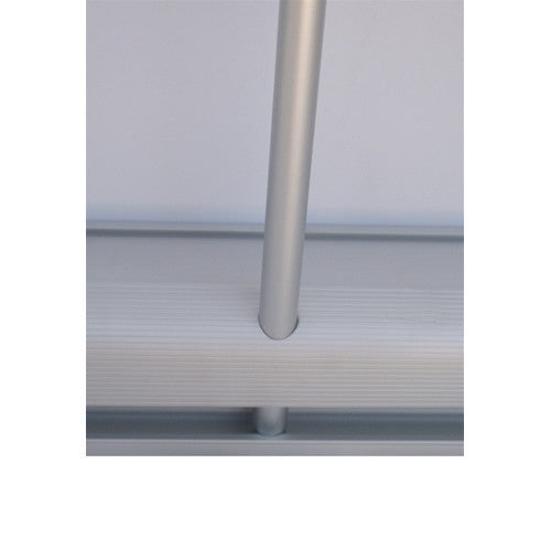 "Econo Roll Retractable Banner Stand 33.5"" W by 80"" H Black Back"