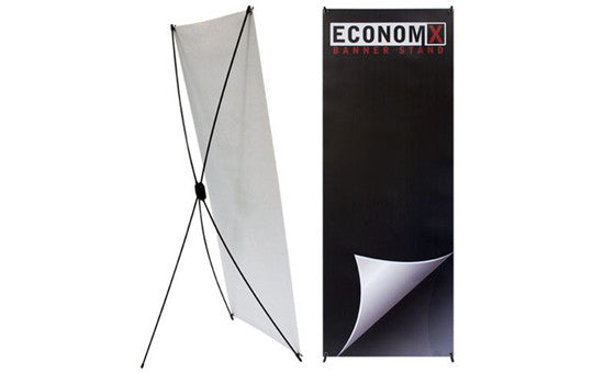 "Economy X Banner Stand 24"" by 62"""