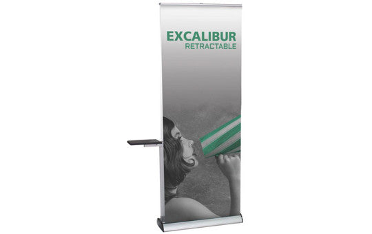 "Excalibur Double Sided Retractable 31.5"" W by 83.35"" H Retractable Banner Stand with Tension Control"