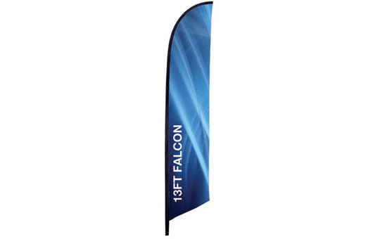 Falcon Flag 13 Foot Single Sided Flag Only no stand