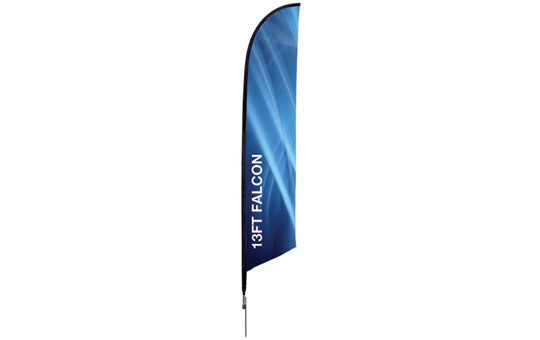 Falcon Flag 13 Foot Single Sided Flag and Stand Combo