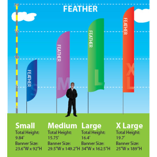 Feather Banner Size Chart
