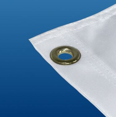 Flags can be finished with traditional finishes such as grommets
