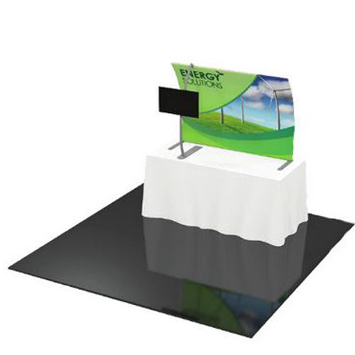 "Formulate Table Top Display 62"" wide X 44.3"" tall with Front Legs and Monitor Mount"