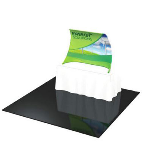 "Formulate Curved Table Top Display 63"" wide X 46.5"" tall"
