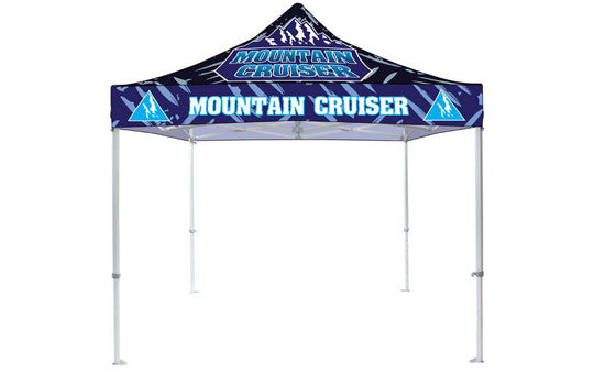 10 Foot Full Color Impression Custom Canopy Tents Heavy Duty Frame Top and Frame Combo