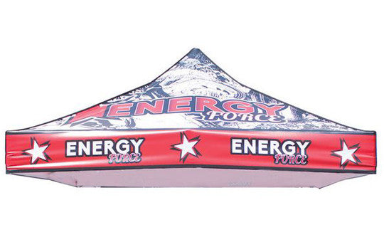 Full Color Print 10 Foot Custom Canopy Pop Up Tent Top Only