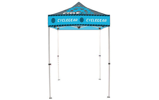 5 Foot Full Color Impression Custom Canopy Tents Steel Frame Top and Frame Combo
