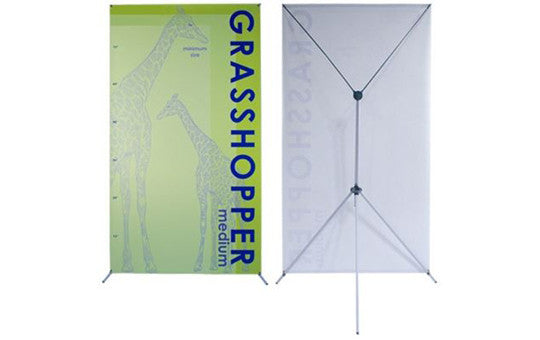 "Graphic Only for Grasshopper adjustable banner stand 32 to 48"" by 79 to 86"""
