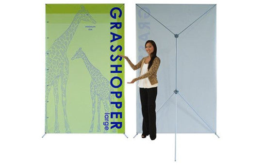 "Graphic Only  for Grasshopper adjustable banner stand 48 to 59"" by 83 to 98"""