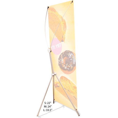 "Grasshopper adjustable banner stand 18 to 32"" by 63 to 79"""