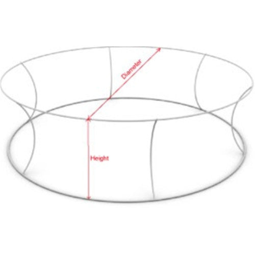 10 Foot by 32 Inch Circle Round Hanging Banner Frame