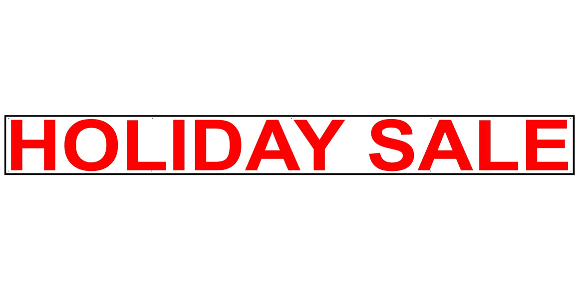 Holiday Sale 2' Tall by 20' Wide Vinyl Banner
