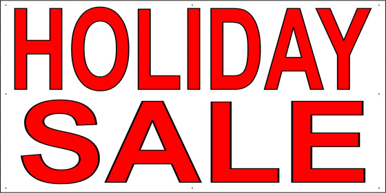 Holiday Sale 4' Tall by 8' Wide Vinyl Banner