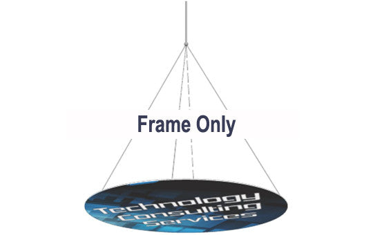 12 Foot Horizontal Disc Hanging Banner Display Frame Only