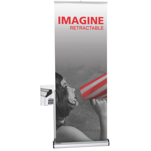 "Imagine 31.5"" W by 83.35"" H Retractable Banner Stand"