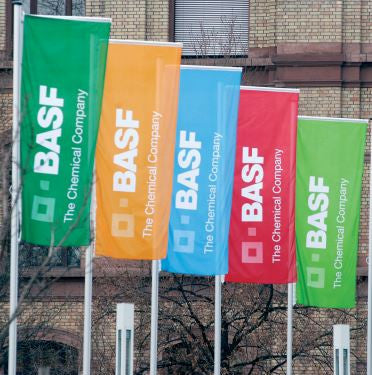 Landscape Pole Flags Displayed