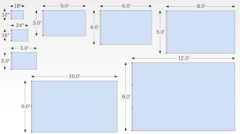 Landscape Pole Flags Layout Template