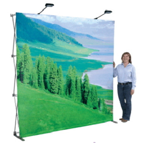 "Light Speed Pop Up Kit Trade Show Display 89"" High by 118"" Wide"
